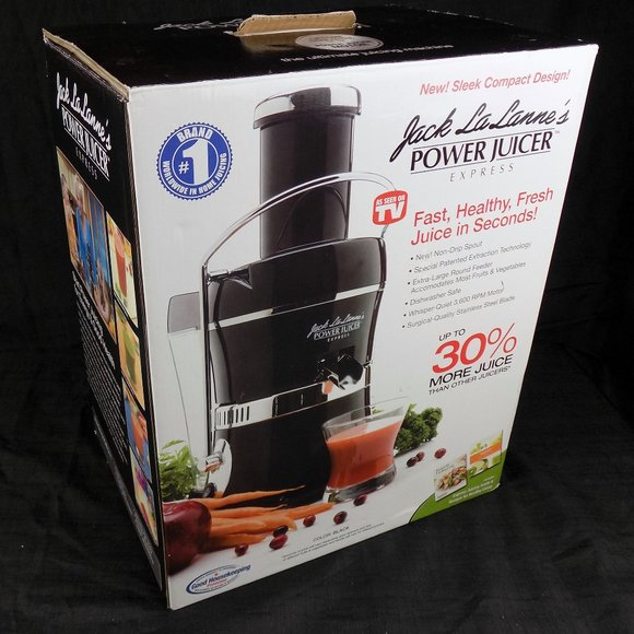 Jack Lalanne Power Juicer Express Black NEW in Box